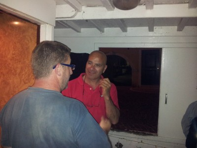 Interviewing Fishermen Mario Casson aboard his fishin effort