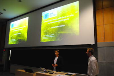 At the symposium we presented GAP2, facts about Swedish fish and fauna, and our work with spawning habitats and different management efforts