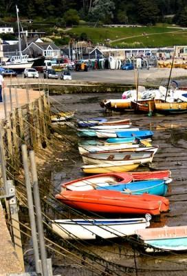 Boats lining the Cobb © Katrina Borrow